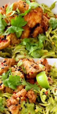 Air fried peanut tofu bowl with soba noodles in a raw mango avocado sauce crispy caramelized edges and soft center piled up over the most luscious tropical noodles quick easy and oil free! shrimp and broccoli foil packs with garlic lemon butter sauce Vegetarian Recipes Easy, Diabetic Recipes, Raw Food Recipes, Dinner Recipes, Cooking Recipes, Healthy Recipes, Firm Tofu Recipes, Vegetarian Food, Lunch Recipes