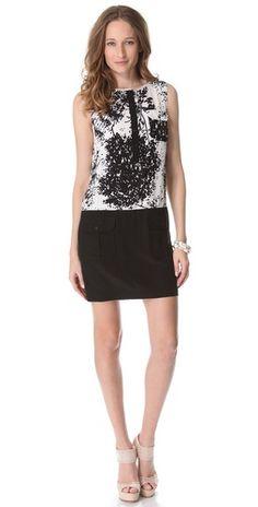 Rachel Zoe black & white dress