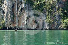 Rock island in Andaman Sea Thailand