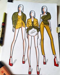 harry sandi (@harry_sandi) • Photos et vidéos Instagram Dress Design Drawing, Dress Design Sketches, Fashion Design Sketchbook, Fashion Design Portfolio, Fashion Design Drawings, Fashion Sketches, Fashion Illustration Tutorial, Fashion Illustration Dresses, Fashion Figure Drawing