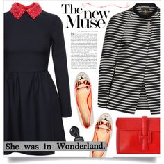 A fashion look from September 2015 featuring Valentino dresses, Ted Baker and Hermès clutches. Browse and shop related looks.