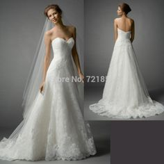 bb3ac2c63db Aliexpress.com   Buy Custom Made Wedding Dresses White Sweetheart Backless  Zipper A Line Embroidery Off the Shoulder Sweep Brush Train hs034 from  Reliable ...