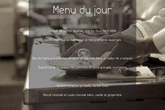 Et le menu du jour est ??... #restaurant #larochelle #onmangequoitoday #bonappetit