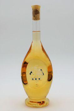 """Weinflasche in Tropfenform mit Qualitätswein """"Furmint"""", außen mit Segelschiff bestückt Wine Decanter, Barware, Bottle, Drinks, Shops, Original Gifts, Corks, Special Gifts, Sculptures"""
