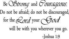 Joshua 1:9 Scripture quote