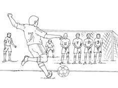 Kleurplaten voetbal / Football Sports Drawings, Art Drawings For Kids, Drawing For Kids, Cartoon Drawings, Basic Sketching, Figure Sketching, Figure Drawing, Human Figure Sketches, Human Sketch