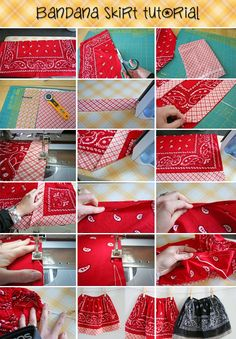 Kid's Bandana Skirt Tutorial Pictures, Photos, and Images for Facebook, Tumblr, Pinterest, and Twitter