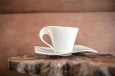 This cup is just design perfection. Now we can drink perfect coffee out our perfect cups. Out of the collection New Wave from Vileroy & Boch.