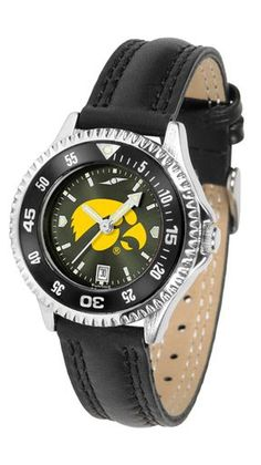 NCAA Iowa Hawkeyes Competitor Ladies' AnoChrome Color Bezel Watch