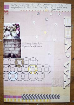 Lovely lavender #purple #scrapbook #layout #patterns
