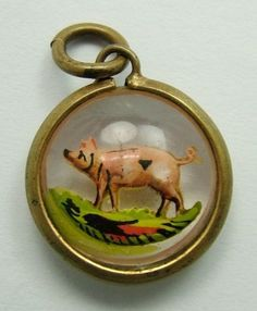Image result for czech glass charm vintage