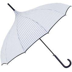 H.Due.O Pinstripe Pagoda Umbrella
