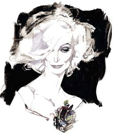 David Downton. Sublime. And not just because it's an illustration of Carmen Dell'Orefice.