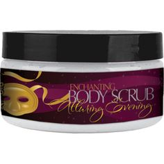 ~ OUTLET CLEARANCE ~  Our exclusive Enchanting Body Scrub will slough it all away! Dead Sea salts allow you to reveal your best skin and prepare your body for our decadent Charmed Body Butter.   Available in Alluring Evening (Vanilla+Cotton Candy) and Mystic Morning(White Tea+Ginger). 8 oz.