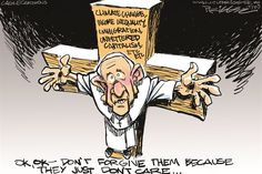 Pope and the right © Milt Priggee,www.miltpriggee.com,Pope Francis, GOP, republicans, immigration, unfettered capitalism, income inequality, climate change, religion,