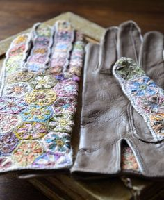 Sophie Digard crochet and leather gloves