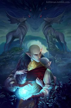 Solas and Lavellan: Because why not this one?