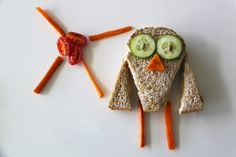 Fun food for kids: Sandwich art made simple Edible Food, How To Eat Better, Art Party, Snack, Creative Food, Good Food, Fun Food, Food Art, Kids Meals