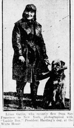 Lillian Gatlin and Laddie Boy c. 1922