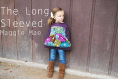 Shwin: Maggie Mae with Long Sleeves -- I have this pattern! I love her re-mix to make it with long sleeves.
