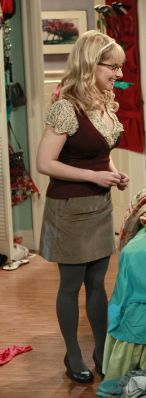 Bernadette's burgundy vest and beige skirt on The Big Bang Theory.  Outfit Details: http://wornontv.net/781/ #TheBigBangTheory