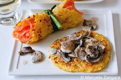 Rösti (potato pancake) and mushroom ragout