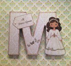Letras decoradas. Altered letter. Scrapbook Mi Primera Comunión