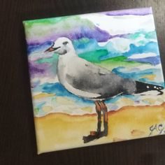 This seagull modelled for its portrait for nearly half an hour yesterday, just eyeballing me and walking around. Gray Instagram, Watercolour Painting, Walking, Portrait, Art, Art Background, Headshot Photography, Kunst, Walks