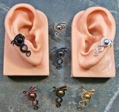 Small Metal Woven Ear Cuff (U Choose Metal) via Etsy