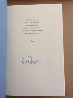 Billy Bathgate by E. L. Doctorow Signed Limited First Edition # 92 of 300