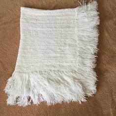 """Baby Blanket Afghan Throw Handmade Crochet 40""""x32"""" (102x82cm) White NWOT #Handmade"""
