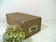 Vintage Yellowed Grey Cardboard Large Rectangular by DivineOrders