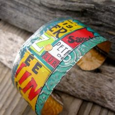 Recycled Tin Jewelry Image Gallery Archives - Disheveled Edge by Cynthia Inson Tin Jewelry Diy, Metal Clay Jewelry, Recycled Jewelry, Paper Jewelry, Diy Jewelry Making, Jewelry Crafts, Jewelry Art, Jewelry Design, Jewelry Ideas