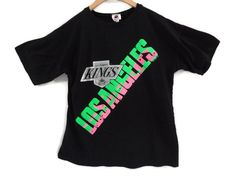 Los Angeles Kings T-shirt - Neon - 1990 - Small - Harley - LA Kings -  Vintage Tees - Sports Jerseys - NHL - 90s Clothing - California a6d05d2b0