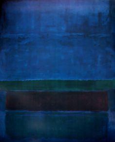 Blue, Green and Brown by Mark Rothko(via: @lonequixote)