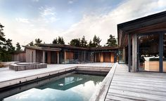 JOARC I ARCHITECTS • Holiday Villas • Finnish summerhouse, outdoor pool, mökki, scandinavian architecture