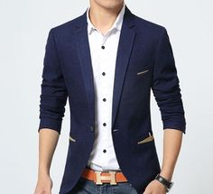 Mens Trim Fit Blazer