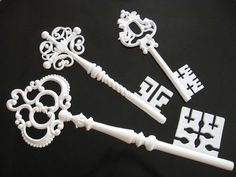 Misc Vintage Skeleton Keys - Wall Hangings