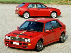 A monster! The Lancia Delta HF series. I remember being catapulted in one. Turbo lag, this was a 4-wheeled glued-to-the-road car I will never forget.