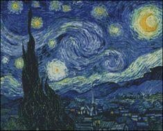 Esquema de Cuadros de Van Gogh en Punto de Cruz (1)