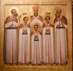 Romanian-by Ioan Popa~~~Maryred Brancoveni family by Ioan Popa Byzantine Icons, Christian Art, Saints, Angels, Catholic Art, Christian Artwork, Angel, Angelfish