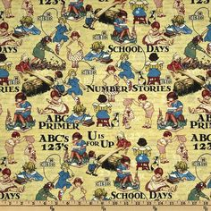 ABC Primer Book Panel by Graphic 45 for by BelloBerryFabricShop