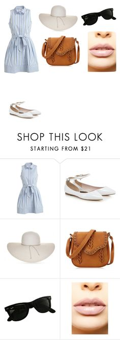 """""""She works in sunlight"""" by mamasita98 ❤ liked on Polyvore featuring Milly, Nine West and Ray-Ban"""