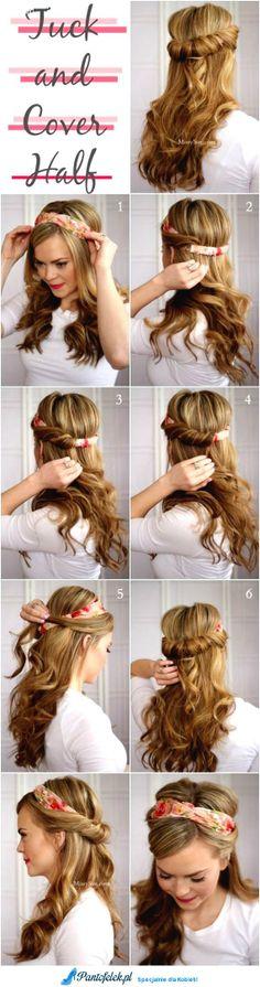 Śliczne i nietypowe upięcie włosów - Zobacz koniecznie