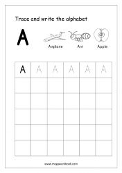 English Worksheet - Alphabet Writing - Capital Letter A Letter Writing Worksheets, Alphabet Writing Practice, Learning Letters, Letter Tracing, Cursive Alphabet Chart, Handwriting Alphabet, Handwriting Practice, English Alphabet Writing, Kindergarten Writing