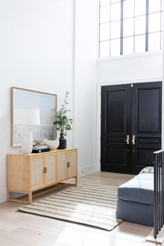 Our Entryway Two-Day Transformation with Studio McGee | Hello Fashion Hello Fashion Blog, Studio Mcgee, Design Studio, House Design, Christine Andrew, Home Luxury, Modern Entry, Rustic Modern, Entry Way Design