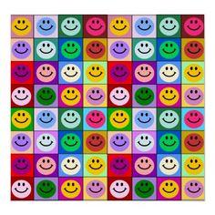 Rainbow smiley faces - smileysgalore
