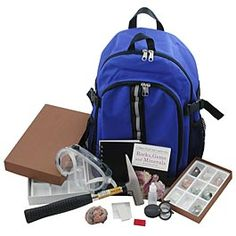 (Katiana) Rock Hounds backpack kit.  Everything she needs to collect and classify rocks. $75