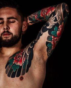 "2,303 Likes, 5 Comments - Japanese Ink (@japanese.ink) on Instagram: ""Japanese tattoo sleeve by @arturholykoi.  #japaneseink #japanesetattoo #irezumi #tebori…"""