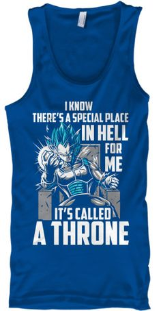 Super Saiyan Vegeta God Blue Tank Top Shirt - TS00238TT